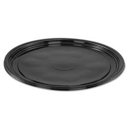 WNA Comet Caterline Casuals Thermoformed Platters, PET, Black, 12 in Diameter