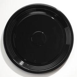 WNA Comet Caterline Casuals Thermoformed Platters, PET, Black, 18 in Diameter