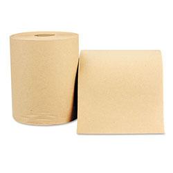 Windsoft Hardwound Roll, Towels, 8 x 600 ft, Natural, 12 Rolls/Carton