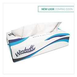 Windsoft Facial Tissue, 2 Ply, White, Flat Pop-Up Box, 100 Sheets/Box, 30 Boxes/Carton