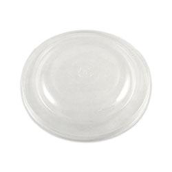 World Centric Fiber Bowl Lids, 7.5 x 7.5 x 1, Clear, 300/Carton