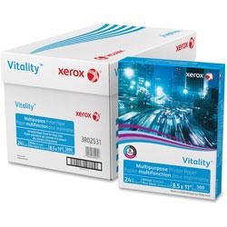 Xerox Multipurpose Paper, 92Brt, 24lb, 8-1/2 in x 11 in, 5000Sht/CT, WE