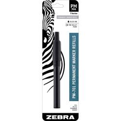 Zebra Permanent Marker Refill, PM-701, 2-1/4 inWx1/2 inLx7-1/2 inH, Black