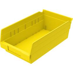 "Akro-Mills Shelf Bin, 6 5/8""Wx11 5/8""Dx4""H, Yellow"