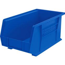 """Akro-Mills Akrobin, Unbreakable/Waterproof, 14 3/4""""x8 1/4""""x7"""" Blue"""