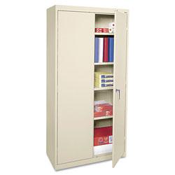 Alera Economy Assembled Storage Cabinet, 36w x 18d x 72h, Putty