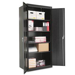 Alera Assembled 78 in High Storage Cabinet, w/Adjustable Shelves, 36w x 24d, Black