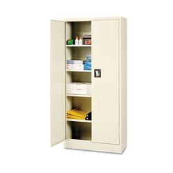Alera Space Saver Storage Cabinet, Four Shelves, 30w x 15d x 66h, Putty