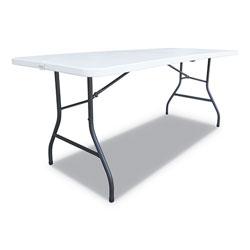 Alera Fold-in-Half Resin Folding Table, 72w x 29.63d x 29.25h, White