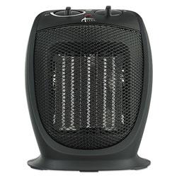 Alera Ceramic Heater, 7 1/8 inw x 5 7/8 ind x 8 3/4 inh, Black