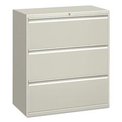 Alera Three-Drawer Lateral File Cabinet, 30w x 18d x 39.5h, Light Gray