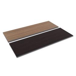 Alera Reversible Laminate Table Top, Rectangular, 71 1/2w x 23 5/8d, Espresso/Walnut