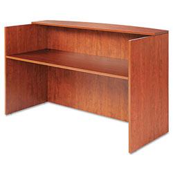Alera Valencia Series Reception Desk with Counter, 71w x 35.5d x 42.5h, Cherry