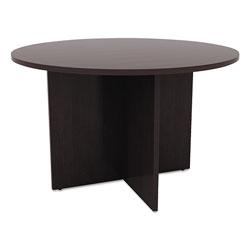 Alera Valencia Round Conference Table w/Legs, 29 1/2h x 42 dia., Espresso