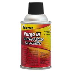 Enforcer Purge III Metered Flying Insect Killer, 6.4 oz Aerosol, Fresh Scent, 12/Carton