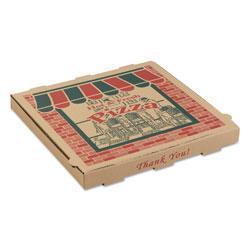 ARVCO Containers Corrugated Pizza Boxes, 14 x 14 x 1 3/4, Kraft, 50/Carton