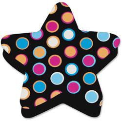 Ashley Star Dots Magnetic Eraser, Black/Multi