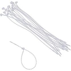 Advantus Cable Tie, Permanent, 1/10 inWx1/4 inLx5-3/4 inH, 250/PK, White