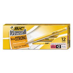 Bic Xtra-Strong Mechanical Pencil, 0.9 mm, HB (#2.5), Black Lead, Yellow Barrel, Dozen