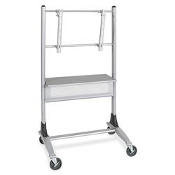 "Balt 27544 Platinum LCD Cart w/5"" Casters, 35"" x 25 1/2"" x 67"", Silver"