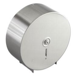 Bobrick Jumbo Toilet Tissue Dispenser, Stainless Steel, 10 21/32 x 4 1/2 x 10 5/8