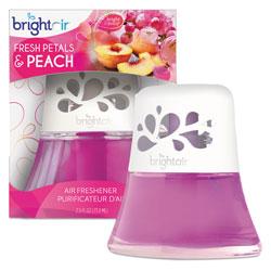 Bright Air Scented Oil Air Freshener Diffuser, Fresh Petals and Peach, Pink, 2.5 oz