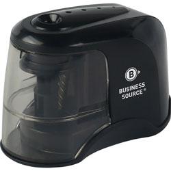 Business Source Pencil Sharpener, Electric, 3-2/5 inx6-3/10 inx2-4/5 in , Black