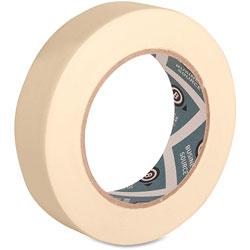 Business Source Masking Tape, 3 in Core, 1 inx60 Yards, 4PK/CT, Natural Kraft