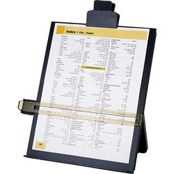 Business Source Document Holder,Easel,Adj Clip,10-7/8 inx1-5/8 inx13-3/4 in,Black