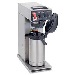 Bunn Airpot Coffee Brewer, Single-Cup, Brews 3.8/7.5gal., BK/SR