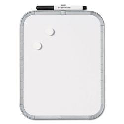 MasterVision™ Magnetic Dry Erase Board, 11 x 14, White Plastic Frame