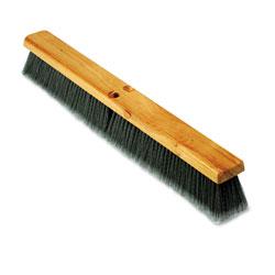 Boardwalk Floor Brush Head, 3 in Gray Flagged Polypropylene, 24 in