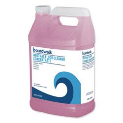 Boardwalk Neutral Floor Cleaner Concentrate, Lemon Scent, 1 gal Bottle, 4/Carton