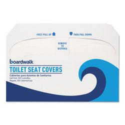 Boardwalk Premium Half-Fold Toilet Seat Covers, 250 Covers/Sleeve, 10 Sleeves/Carton