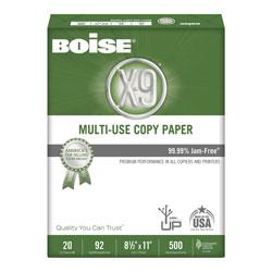 Boise X-9 Multi-Use Copy Paper, 92 Bright, 20lb, 8.5 x 11, White, 500 Sheets/Ream, 10 Reams/Carton