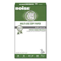 Boise X-9 Multi-Use Copy Paper, 92 Bright, 20lb, 8.5 x 14, White, 500 Sheets/Ream, 10 Reams/Carton