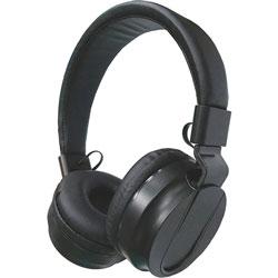 Compucessory Stereo Headphones w/Volume Control, Black