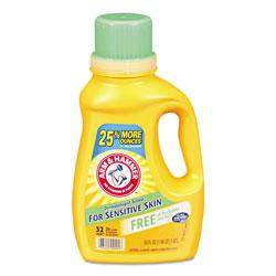 Arm & Hammer® HE Compatible Liquid Detergent, Unscented, 50 oz Bottle