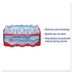 Crystal Geyser Alpine Spring Water, 16.9 oz Bottle, 24/Case