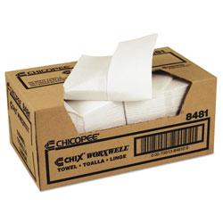 Chicopee Durawipe Shop Towels, 13 x 15, Z Fold, White, 100/Carton