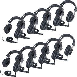 Califone Stereo Headphones Class Pack, Black