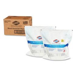 Clorox Bleach Germicidal Wipes, 12 x 12, Unscented, 110/Refill, 2/Carton