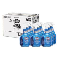 Clorox Commercial Solutions Odor Defense Air/Fabric Spray, Clean Air, 32 oz Bottle, 9/Carton