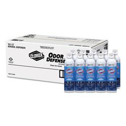 Clorox Commercial Solutions Odor Defense, Clean Air, 14 oz Aerosol, 12/Carton