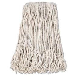 Boardwalk Banded Cotton Mop Head, #24, White, 12/Carton