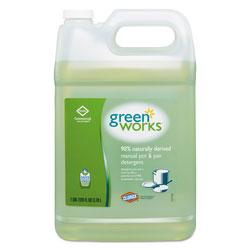 Green Works Manual Pot and Pan Dishwashing Liquid, 128 oz Bottle