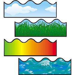 Carson Dellosa Scalloped Border, Includes Clouds/Grass/Ocean Waves/Rainbow
