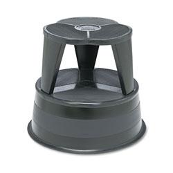 Cramer Industries Kik-Step Steel Step Stool, 2-Step, 350 lb Capacity, 16 in dia. x 14.25h, Black