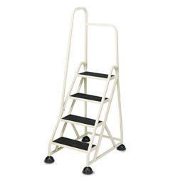 Cramer Industries Stop-Step Ladder, 66.25 in Working Height, 300 lbs Capacity, 4 Step, Beige