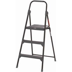 Louisville Ladder 3-Step Stool, 3', 225lb Cap, 21 in x 3-1/2 in x 50 in, Gray